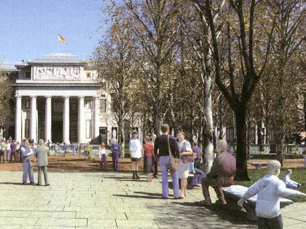 Los alrededores del Museo del Prado, en el futuro