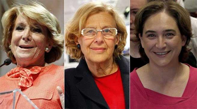 Aguirre, Carmena y Colau, tras las elecciones