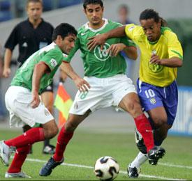 Ronaldinho, con Brasil