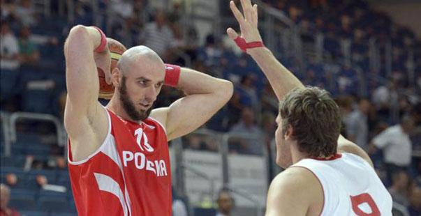 Gortat, con la selección polaca