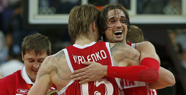 Kirilenko y Shved con Rusia