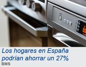 Los hogares en España podrían ahorrar un 27% de luz y gas